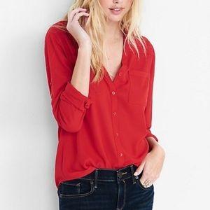 Express the Portofino red blouse size small EUC